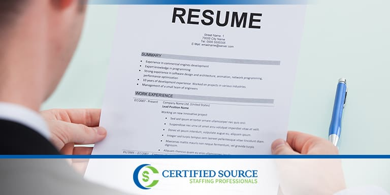 Reviewing resume