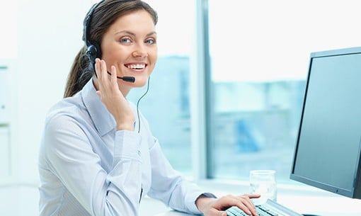 Customer service agent with a beautiful smile