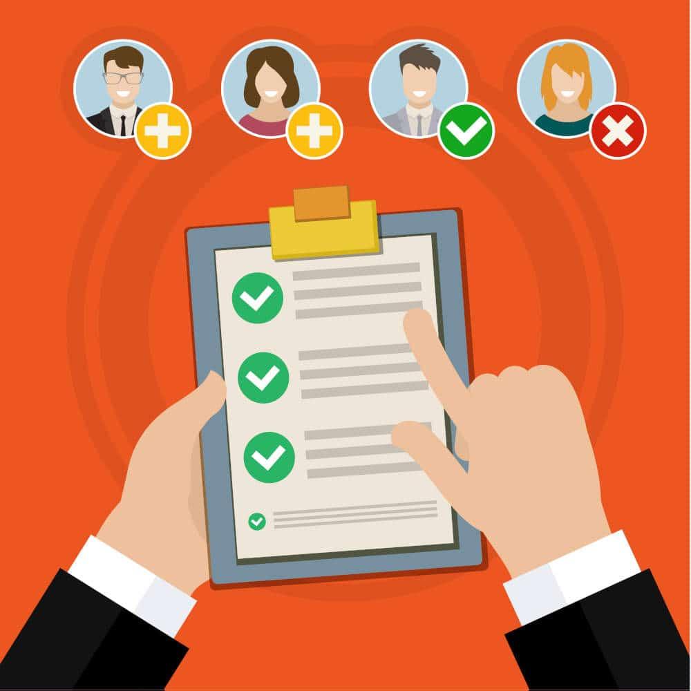Job applicants selection process