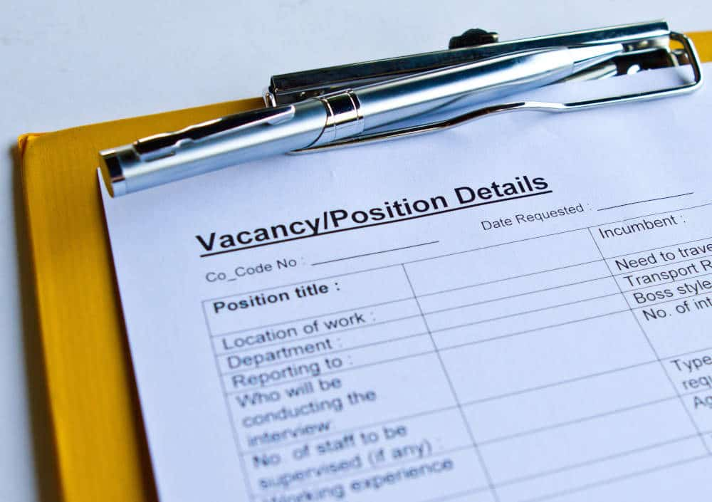 Job information form