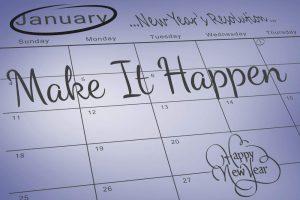 New years calendars, make it happen