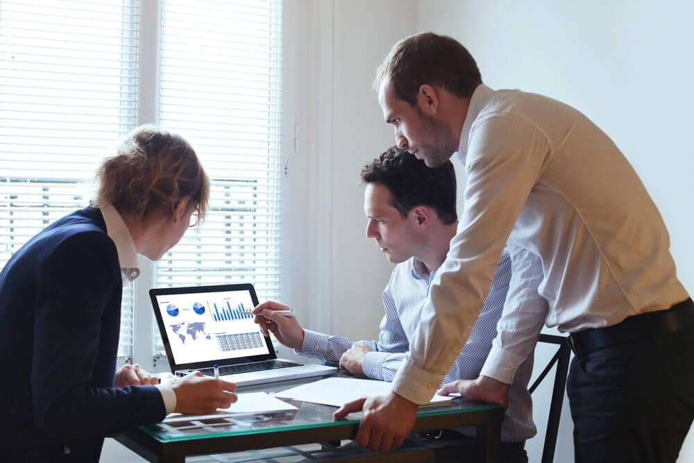 Business Team Working on Analysis