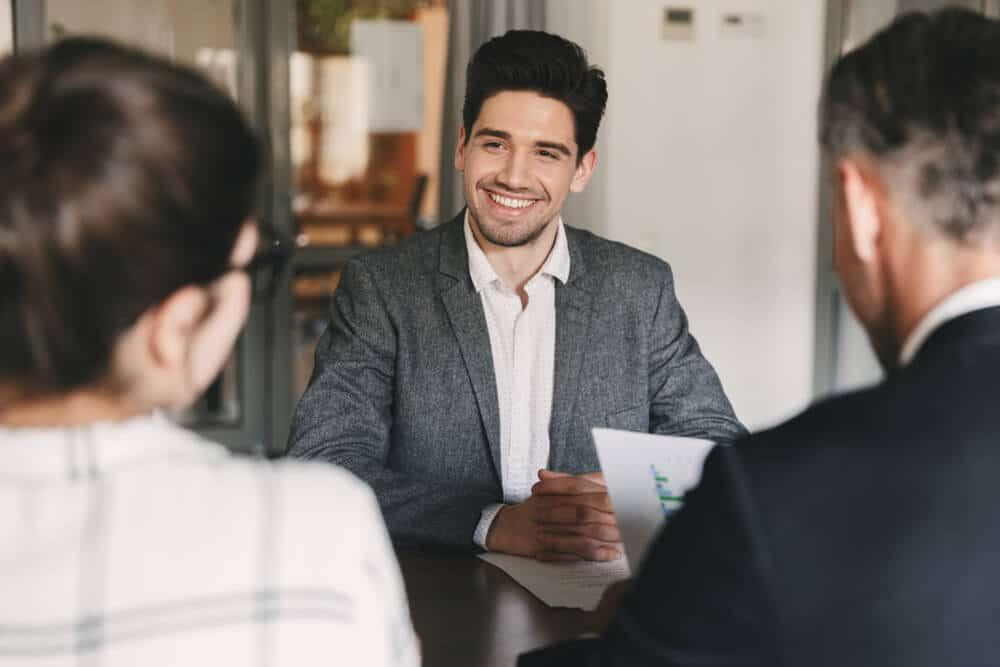 corporate meeting job interview